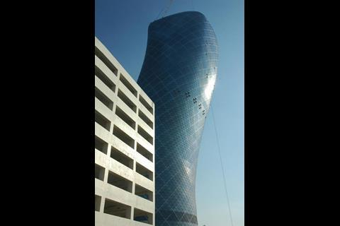 RMJM's 180m-high Capital Gate tower in Abu Dhabi, which leans at a stomach-lurching 18degrees